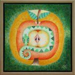 Gyvatė sauganti obuolį